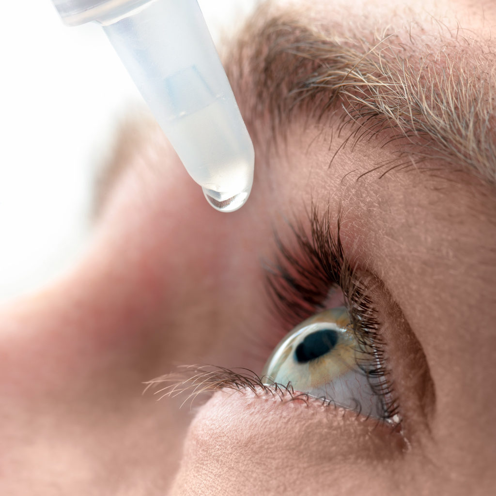 Don't use get the red out eyedrops which can cause additional dryness
